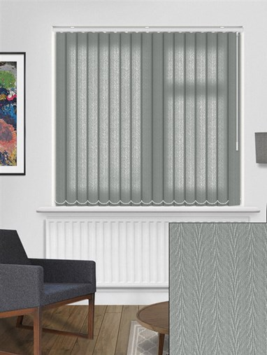 Foliage Graphite 89mm Dim-Out Vertical Blind