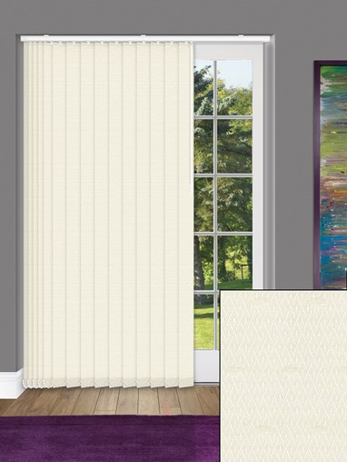 Mirage Cream 89mm Dim-Out Vertical Blind