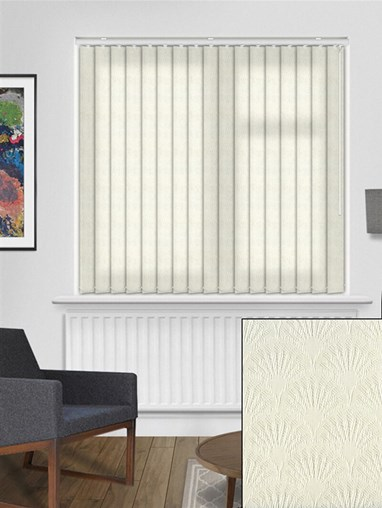 Pearls Cream 89mm Dim-Out Vertical Blind