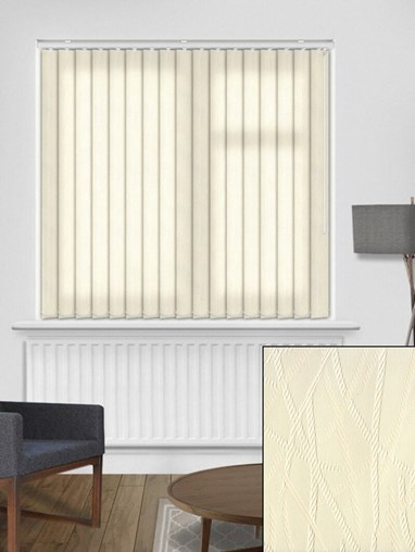 Rope Cream 89mm Dim-Out Vertical Blind