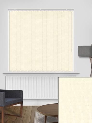 Tailor Ivory 89mm Blackout Vertical Blind