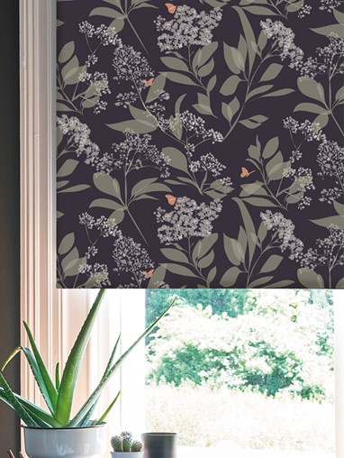 Buds and Butterflies Roller Blind by Lorna Syson