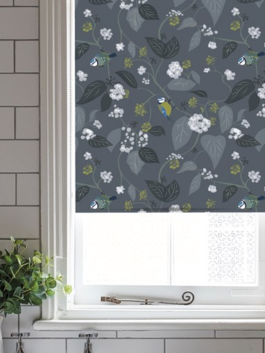 Spring Ivy Slate Roller Blind by Lorna Syson