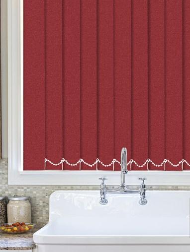 Luxe Scarlet Waterproof 89mm Vertical Blind Replacement Slats