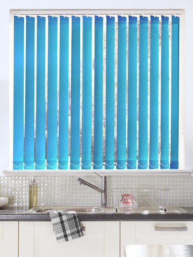 Mid Blue 89mm Daylight Vertical Blind