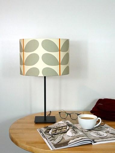 Orla Kiely Two Colour Stem Warm Grey Lampshade