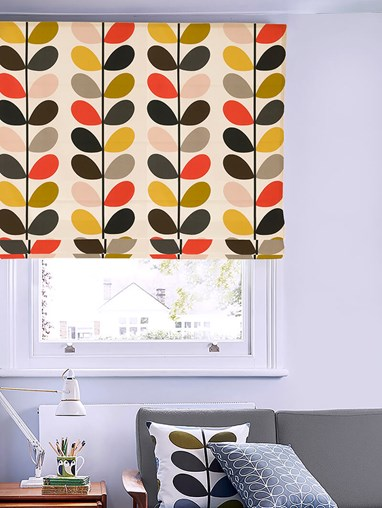 Orla Kiely Multi Stem Tomato Electric Roman Blind