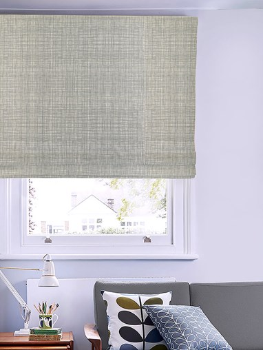 Orla Kiely Scribble Cool Grey Electric Roman Blind