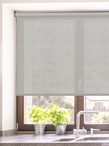 Pewter 3% Sunscreen Electric Roller Blind