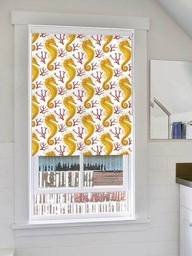 Seahorse Yellow Roller Blind