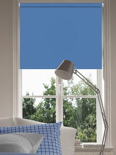 Sky Blue Blackout Thermal Roller Blind