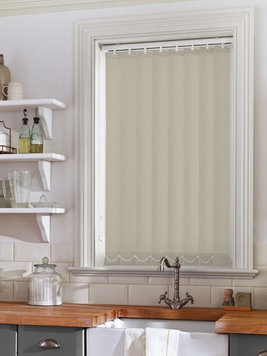 Stone Grey 89mm Daylight Vertical Blind