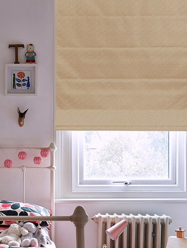 Tribeca Clay Blackout Electric Roman Blind