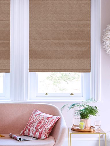 Tribeca Hazelnut Blackout Electric Roman Blind