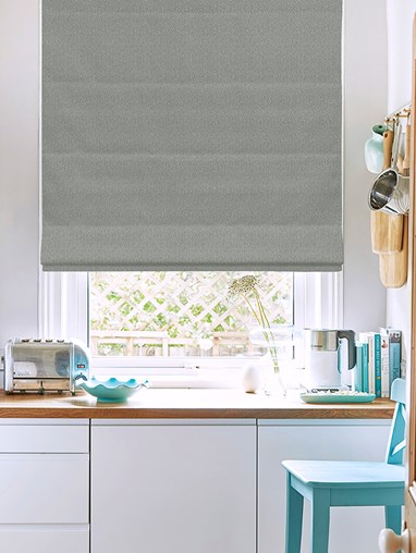 Tribeca Iron Blackout Electric Roman Blind