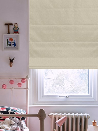 Tribeca Limestone Blackout Electric Roman Blind
