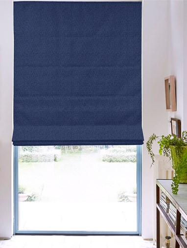 Tribeca Midnight Blackout Electric Roman Blind