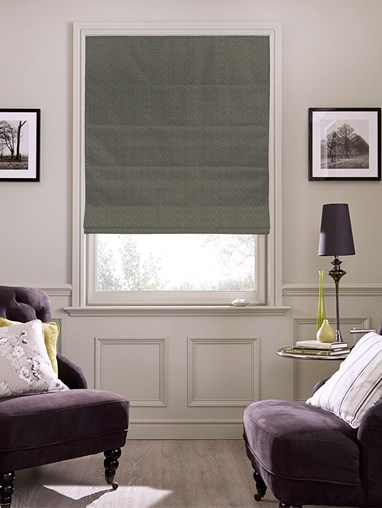 Tribeca Thunder Blackout Electric Roman Blind