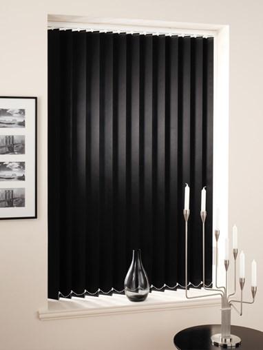 Black Daylight 89mm Vertical Blind Replacement Slats