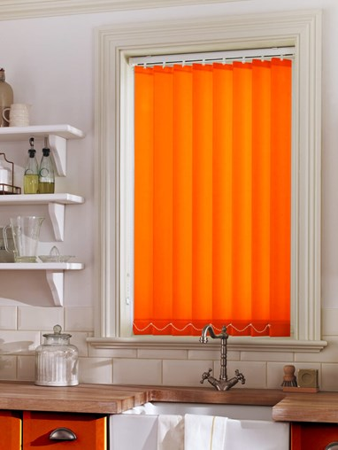 Neon Orange Daylight 89mm Vertical Blind Replacement Slats