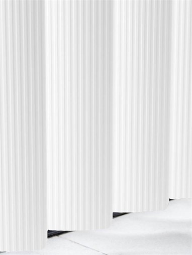 Ridged White Rigid PVC 89mm Vertical Blind