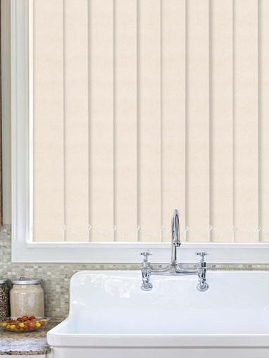 Cosmic Ivory Waterproof 89mm Vertical Blind Replacement Slats