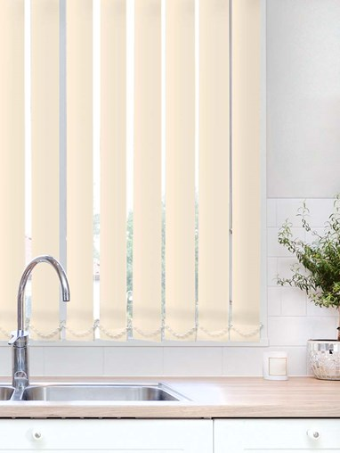Latte Plain Waterproof 89mm Vertical Blind Replacement Slats