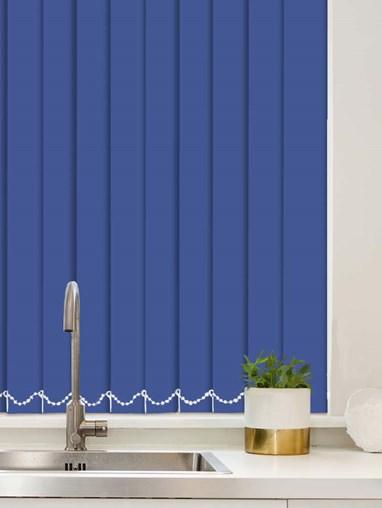 Cobalt Plain Waterproof 89mm Vertical Blind Replacement Slats
