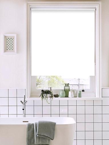 White Bathroom Roller Blind