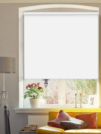 White Extra Large Electric Roller Blind