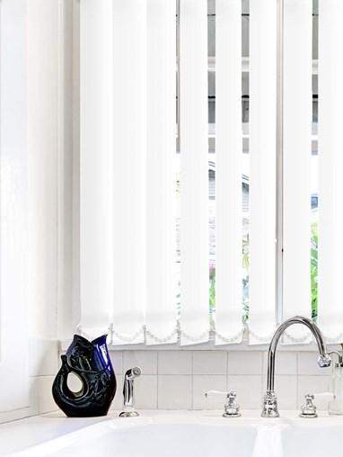 White Waterproof 89mm Vertical Blind