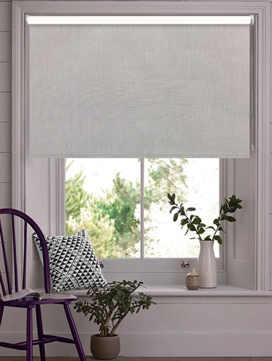Windsor Light Grey Blackout Thermal Roller Blind