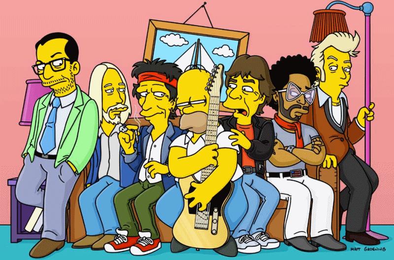 Homer et ses amis rockers