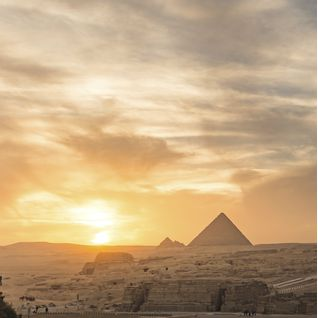 Pyramids in Giza, Egypt