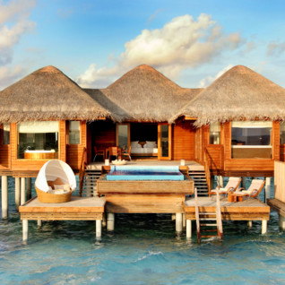 Water villa at Huvafen Fushi, luxury hotel in the Maldives