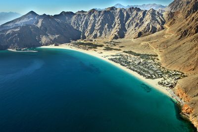 Aerial view of Six Senses Zighy Bay in Oman