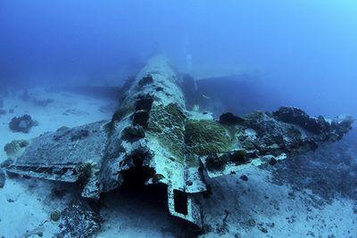 Plane Wreck in Chuuk Lagoon