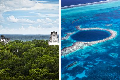 Ruins and volcano hiking in Guatemala and diving the blue hole in Belize