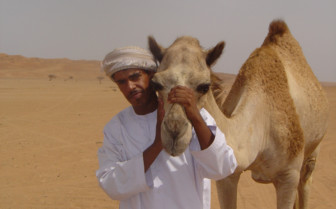 Picture of a Bedouin with camel at the Private Dive Safari