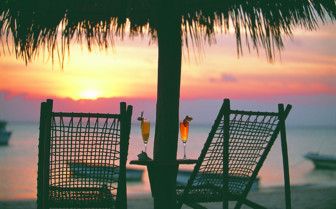 Picture of Beach cocktail sunset