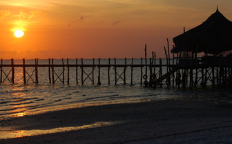 Picture of Pier at sunset Mafia Island