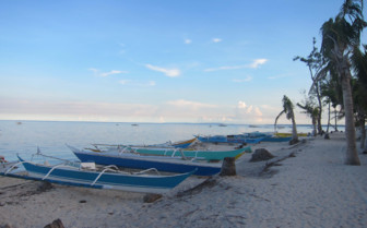 Picture of Boats on beach Malapascua