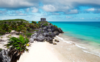 Picture of Riviera Maya ruins on the beach
