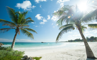Picture of a beach in the Yucatan Peninsula