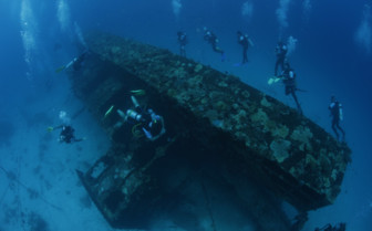 Picture of wreck diving in the Maldives