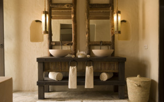 Bathroom at Six Senses Zighy Bay, luxury hotel in Oman