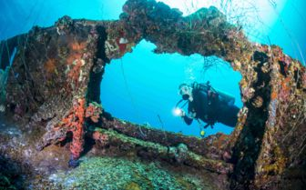 Shipwreck diving off Palau