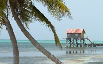 Beach hut the cayes