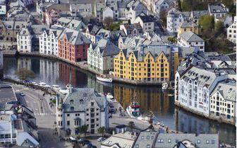 Alesund city, Norway