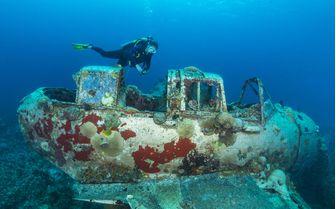 Wreck in Micronesia